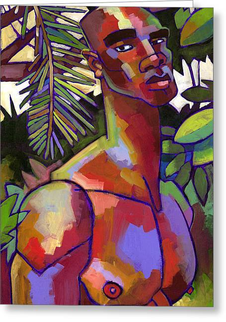 Male Figure Greeting Cards - Victor in the Forest Greeting Card by Douglas Simonson