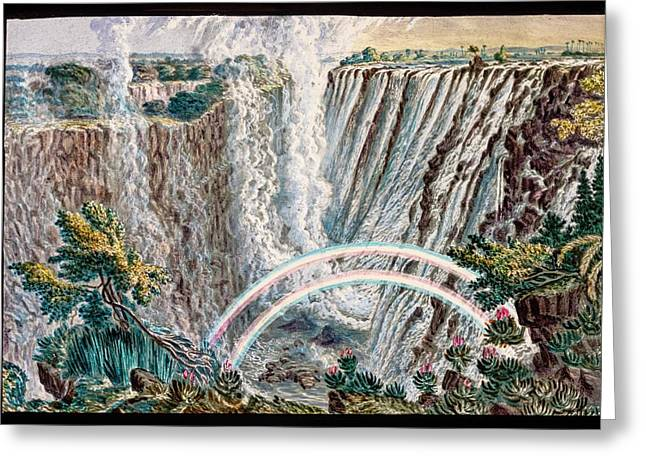 Victoria Falls Rainbows Greeting Card by Gustoimages/science Photo Libbrary