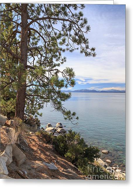 Tahoe National Forest Greeting Cards - View Across Lake Tahoe Greeting Card by Jannis Werner