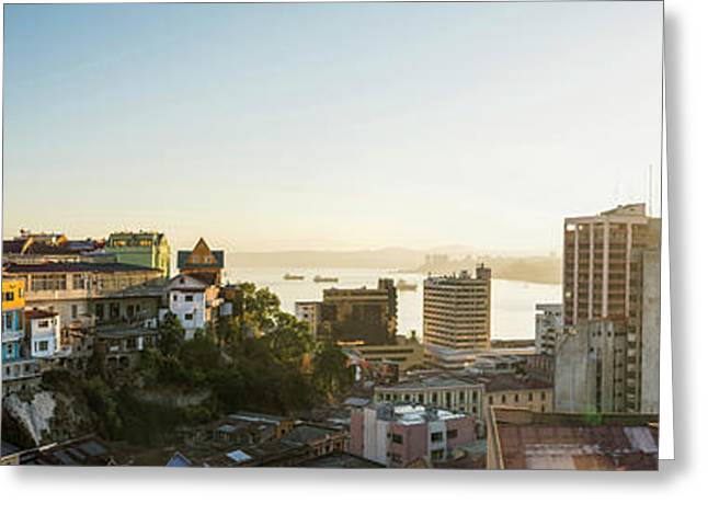 View From Ascensor Reina Victoria Greeting Card by Panoramic Images