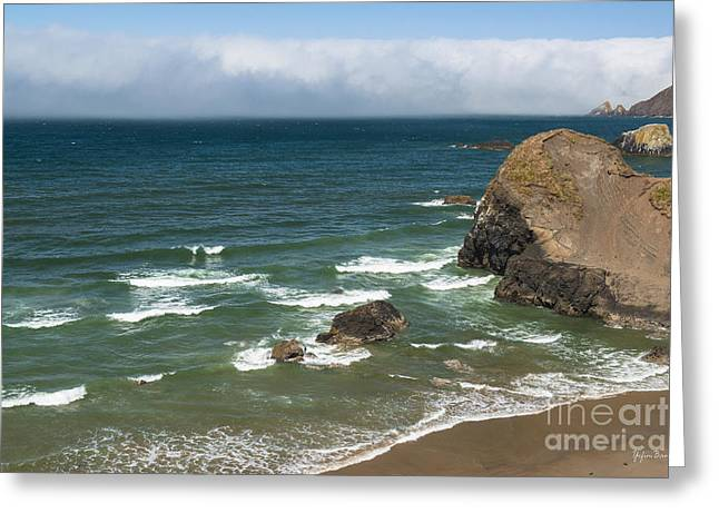 View From Ecola Point Greeting Card by Yefim Bam