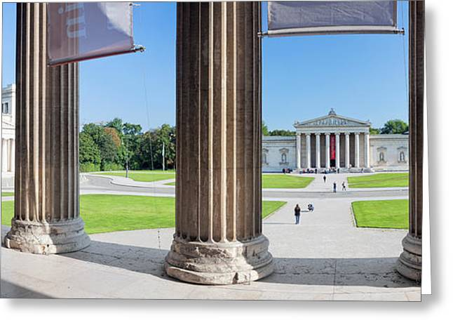 Classical Style Greeting Cards - View From Staatliche Antikensammlung Greeting Card by Panoramic Images