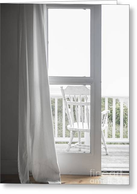 Muted Greeting Cards - View from the Beach House Greeting Card by Diane Diederich