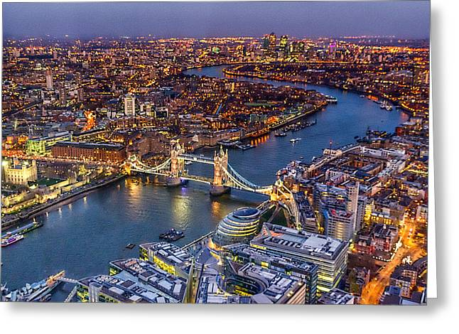 Belfast Greeting Cards - View from The Shard london Greeting Card by Ian Hufton