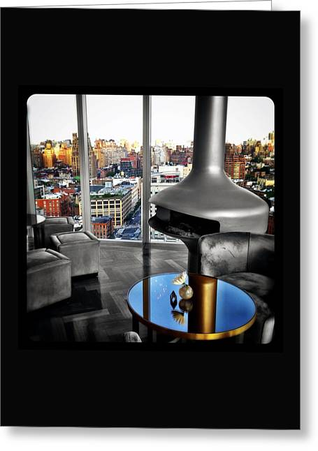 Hotel Window Greeting Cards - View from Within Greeting Card by Natasha Marco