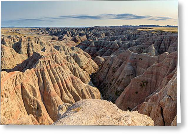 Badlands National Park Greeting Cards - View Of Badlands National Park, South Greeting Card by Panoramic Images