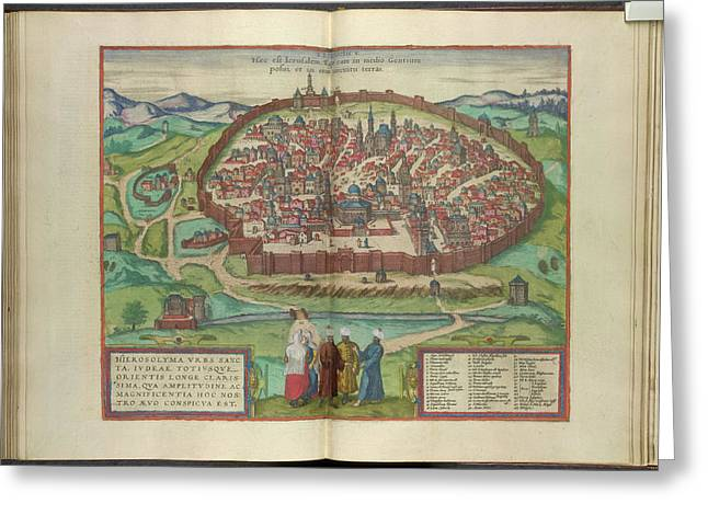 View Of Jerusalem Greeting Card by British Library