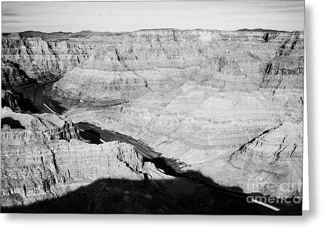 Guano Greeting Cards - view of the grand canyon and colorado river guano point Grand Canyon west arizona usa Greeting Card by Joe Fox