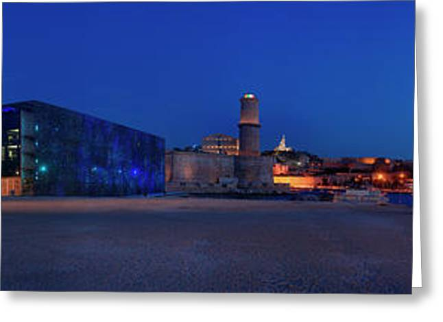 View Of The Palais Du Pharo, Fort Greeting Card by Panoramic Images