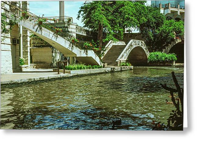 View Of The San Antonio River Walk, San Greeting Card by Panoramic Images