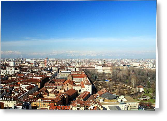 Torino Greeting Cards - View of Turin Greeting Card by Valentino Visentini