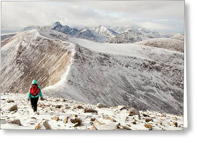 View West Into The Cuillins Greeting Card by Ashley Cooper
