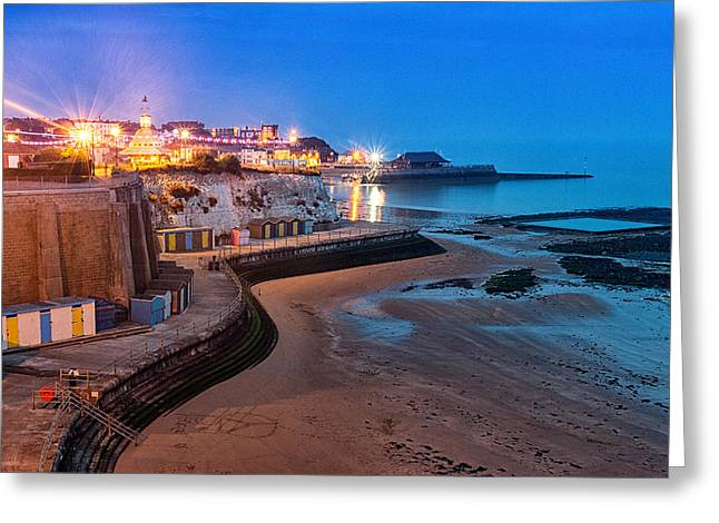 Viking Bay Broadstairs Greeting Card by Ian Hufton