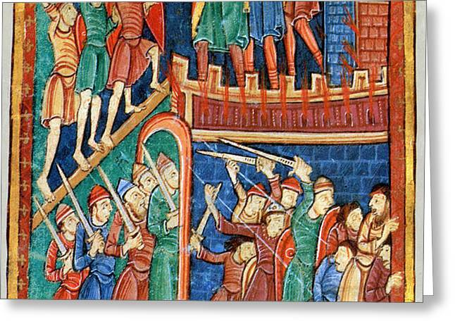 Vikings Invade England 9th Century Greeting Card by Photo Researchers