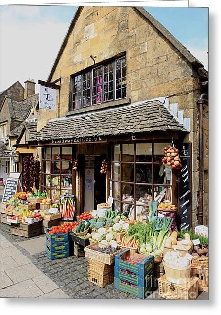 Broccoli Greeting Cards - Village Shop Greeting Card by Paul Felix