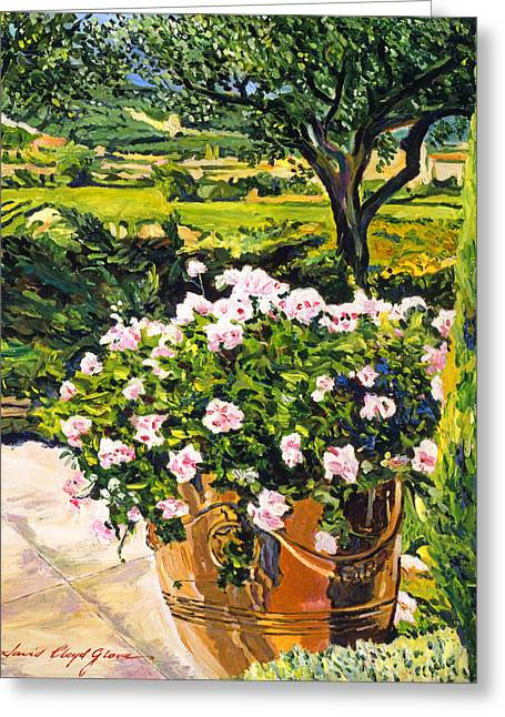 South Of France Paintings Greeting Cards - Vineyards Of Provence Greeting Card by David Lloyd Glover