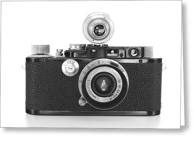 Vintage Camera Greeting Card by Chevy Fleet
