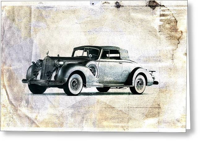 Vintage Greeting Cards - Vintage Car Greeting Card by David Ridley