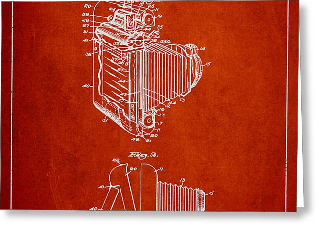 Vintage film camera patent from 1948 Greeting Card by Aged Pixel