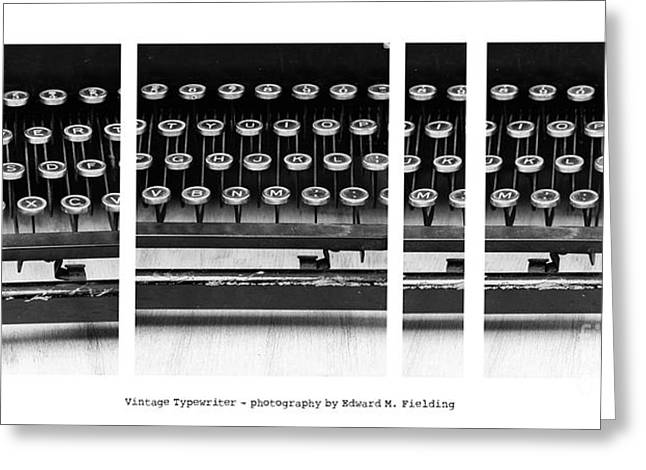 Typewriter Keys Photographs Greeting Cards - Vintage Typewriter Greeting Card by Edward Fielding
