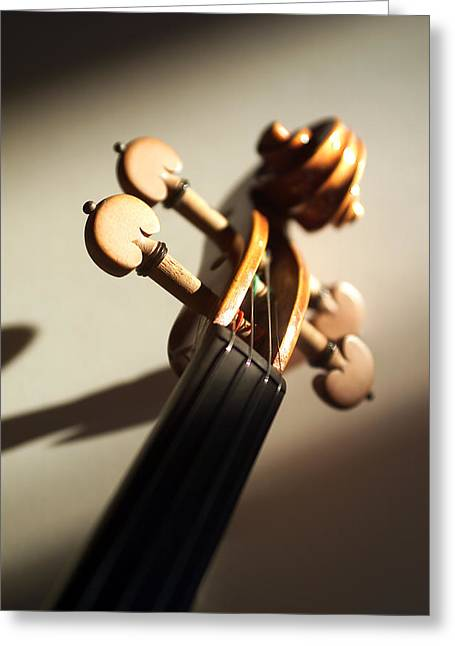 Stringed Instrument Greeting Cards - Violin XII Greeting Card by Jon Neidert