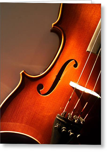 Stringed Instrument Greeting Cards - Violin VII Greeting Card by Jon Neidert