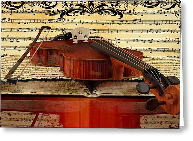 Louis Ferreira Art Greeting Cards - Violin  Greeting Card by Louis Ferreira