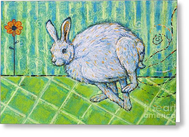 Rabbit Pastels Greeting Cards - Visions of Spring Greeting Card by Christine Belt