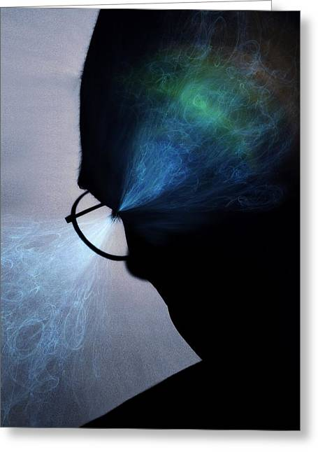 Psychological Process Greeting Cards - Visual processes, conceptual artwork Greeting Card by Science Photo Library