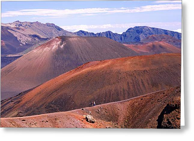 Craters Greeting Cards - Volcanic Landscape With Mountains Greeting Card by Panoramic Images