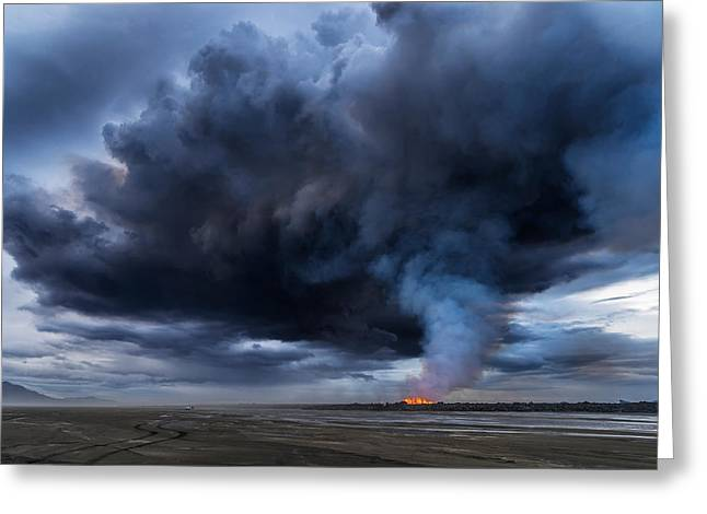 Natural Disaster Greeting Cards - Volcanic Plumes With Poisonous Gases Greeting Card by Panoramic Images