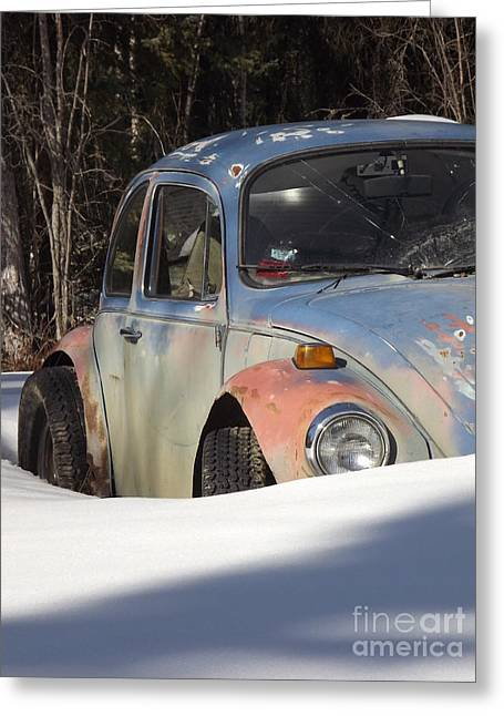 Volkswagen Beetle Greeting Card by Jennifer Kimberly