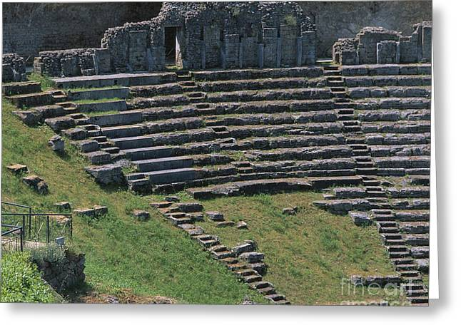 Outdoor Theater Greeting Cards - Volterra Greeting Card by Chris Selby