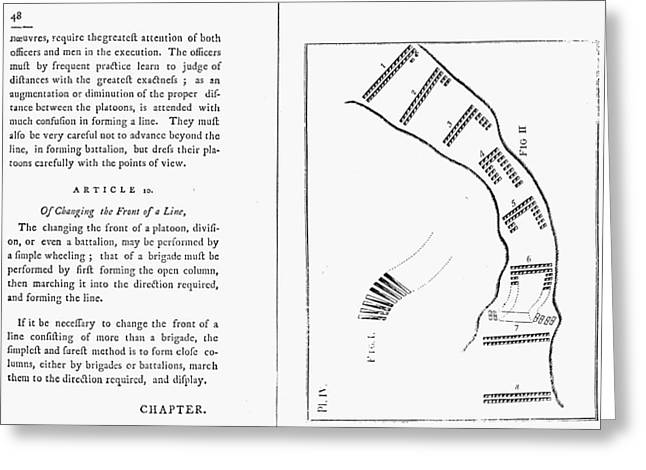 Manual Greeting Cards - Von Steuben Drill Manual Greeting Card by Granger