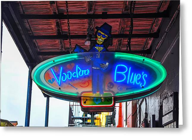Voodoo Greeting Cards - Voodoo Blues - New Orleans Greeting Card by Bill Cannon
