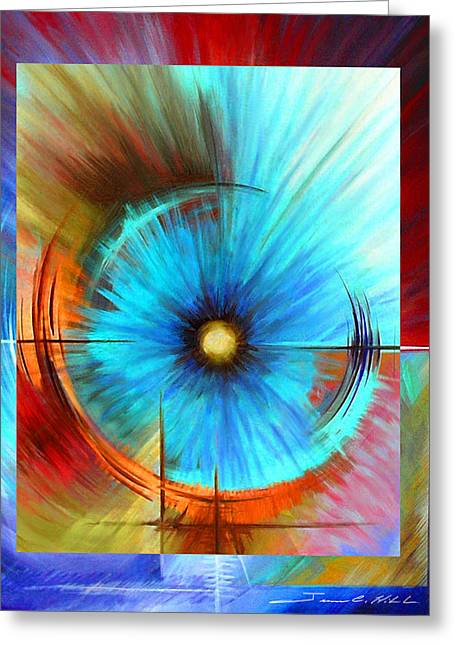Galactic Paintings Greeting Cards - Vortex Greeting Card by James Christopher Hill
