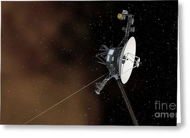Interstellar Space Photographs Greeting Cards - Voyager 1 Passes Into Interstellar Space Greeting Card by Nasa