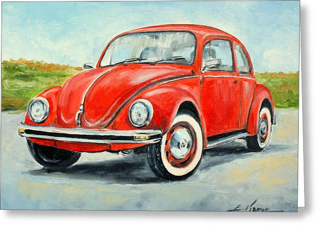 Vw Beetle Greeting Cards - VW Beetle Greeting Card by Luke Karcz