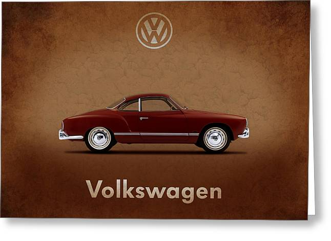 Volkswagen Beetle Greeting Cards - VW Karmann Ghia Greeting Card by Mark Rogan