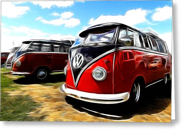 Rat Fink Greeting Cards - VW Micro Bus Greeting Card by Steve McKinzie