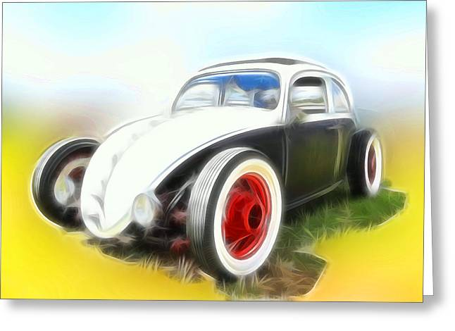 Rat Fink Greeting Cards - VW Rat Greeting Card by Steve McKinzie