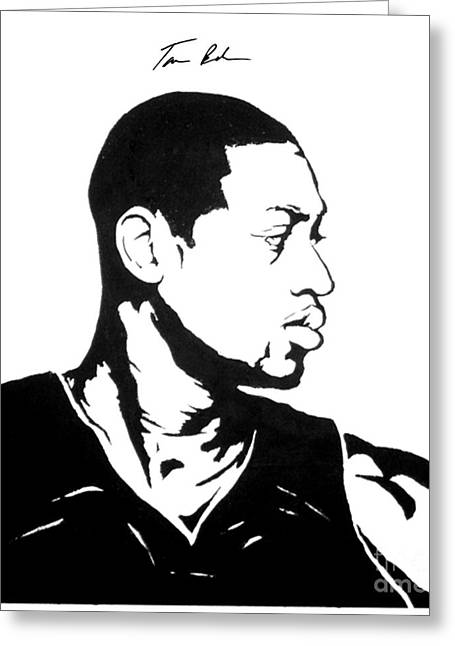 Miami Heat Paintings Greeting Cards - Wade Greeting Card by Tamir Barkan
