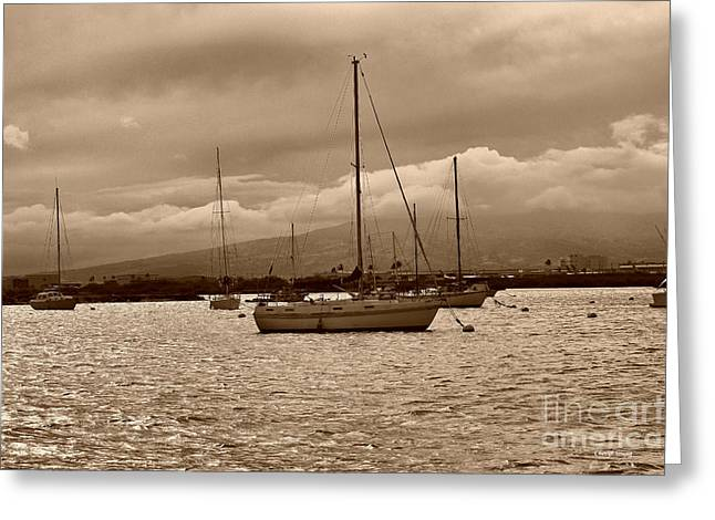 Masts Greeting Cards - Waiting Greeting Card by Cheryl Young