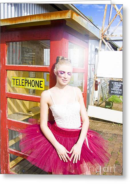 Pink Skirt Greeting Cards - Waiting For A Phone Call Greeting Card by Ryan Jorgensen