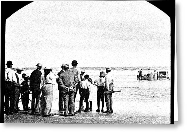 1907 Digital Greeting Cards - Waiting for Fish Holly Beach Now Wildwood New Jersey 1907 Greeting Card by A Gurmankin