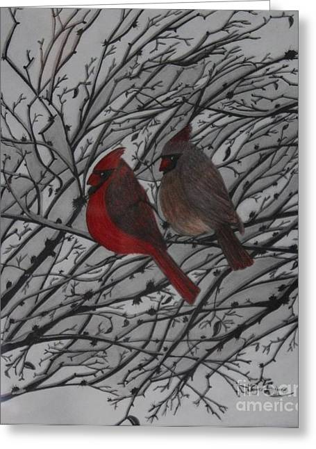Together Pastels Greeting Cards - Kentucky bird. Greeting Card by Joyce Lawhorn