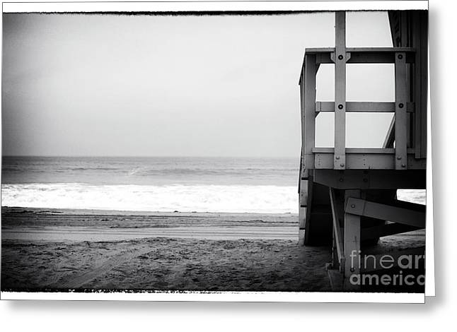 Ocean Black And White Prints Greeting Cards - Waiting for You Greeting Card by John Rizzuto