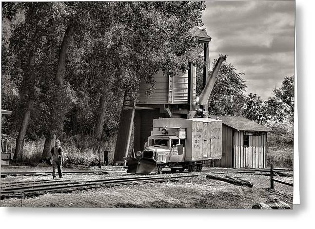 Colorado Railroad Museum Greeting Cards - Waiting Greeting Card by Ken Smith