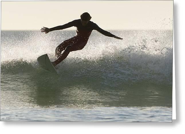 Tarifa Greeting Cards - Wakeboarding Los Lances Beach Tarifa Greeting Card by Ben Welsh