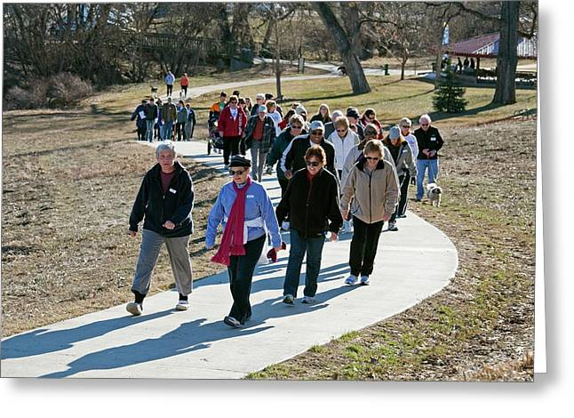 Walking Healthcare Initiative Greeting Card by Jim West